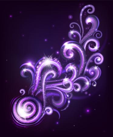 Decorative abstraction with swirls  Vector illustration  Illustration