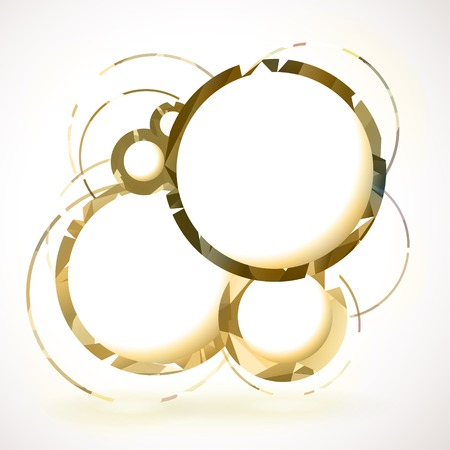 Composition of retro gold round frames.