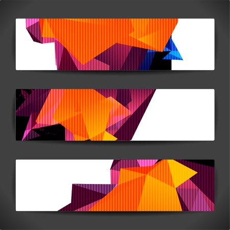 juventud: Conjunto de fondos geom�tricos poligonales brillantes para el dise�o moderno