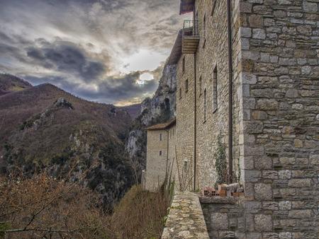 hermitage: The hermitage SantAmbrogio, Pascelupo, Mount Cucco NP, Umbria, Italy