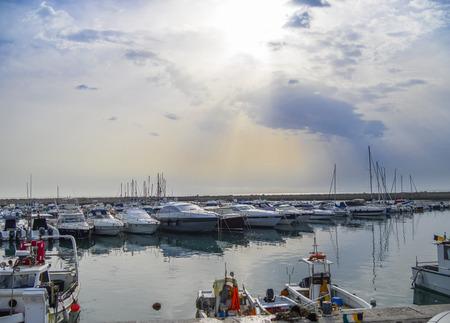 marche: Boats at the harbor, Numana, Conero, Marche, Italy
