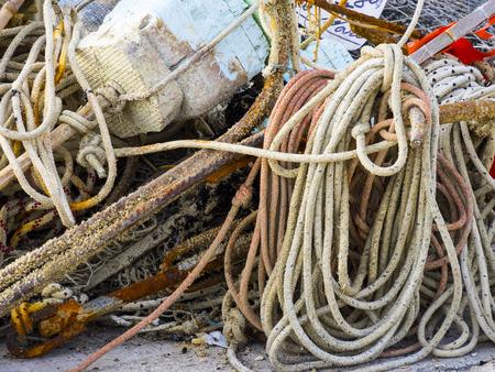 marche: Fishermans tools, Conero, Marche, Italy