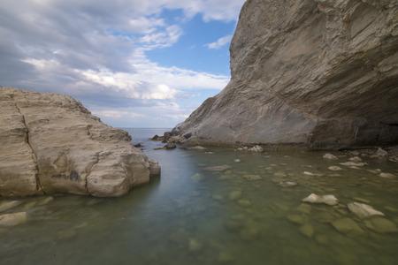 marche: Caves on the sea, Conero, Marche, italy