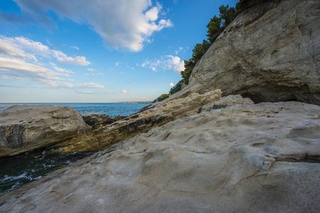 np: Rocks on the sea, Conero NP, Marche, Italy Stock Photo
