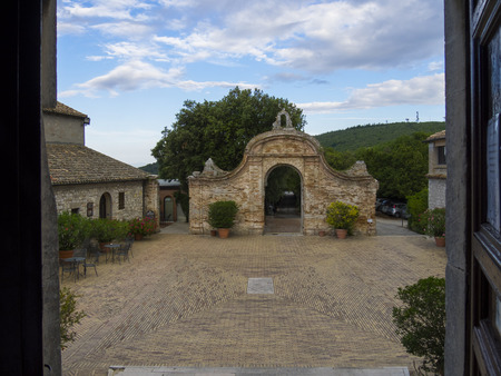 marché: The old monastery on the top of mount Conero, Marche, Italy