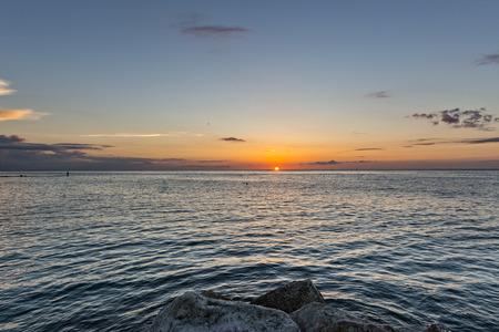marche: Sunrise on the coast of Conero, Marche, Italy