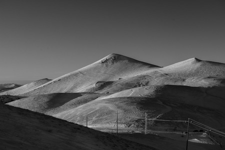 np: Hills covered by snow,Sibillini mountains NP, Umbria, Italy