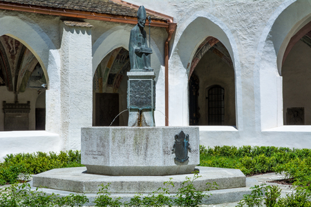 in particular: The monastery complex is the largest in Tyrol and is extremely well preserved Stock Photo