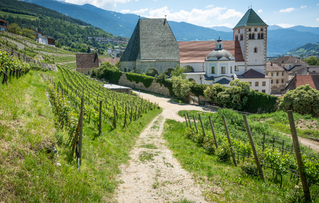 The monastery complex is the largest in Tyrol and is extremely well preserved Stock Photo