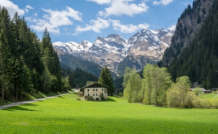 Racines Valley in SouthTyrol, Italy. Lonely house in a valley
