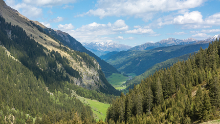 Racines Valley in South Tyrol, Italy. Valley view in summer