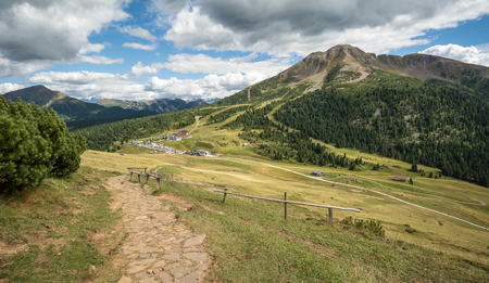 Amazing mountains summer landscape in Dolomites, South Tyrol, Italy. The Oclini Pass, northern Italy. Stock Photo