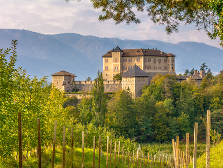Castle Thun. The castle is located in the commune of Ton in the lower Val di Non, Trentino Alto Adige, northern Italy
