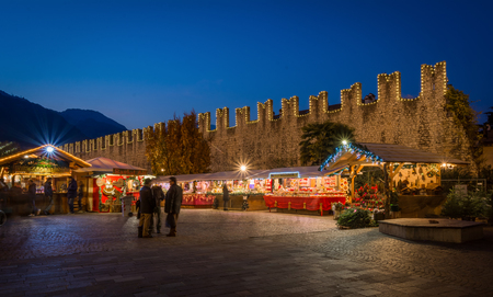 Christmas market on the Trento in Trentino Alto Adige, Northern Italy. Famous market