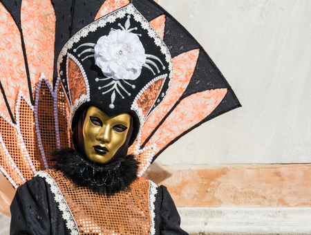 Carnival mask in Venice. The Carnival of Venice is a annual festival held in Venice, Italy. The festival is word famous for its elaborate masks. 스톡 콘텐츠