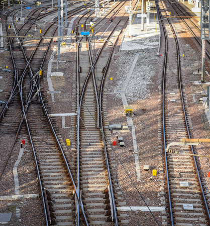 Railway pointwork, railway tracks, high-speed rail