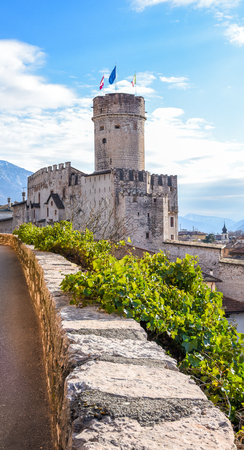 The majestic Castle of Buonconsiglio at the heart of the city of Trento towers in Trentino Alto Adige, Italy. The castle is the most important secular example of architecture in Trentino.. Editorial