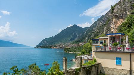 hotel structure on Lake Garda from Limone sul Garda, a small town overlooking Lake Garda