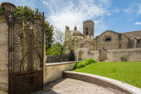 The church of the Immaculate Conception in Barumini, Sardinia, Italy. The church, dating back to the sixteenth century, is built in late-Gothic forms recognizable on the outside in the square-shaped bell tower.