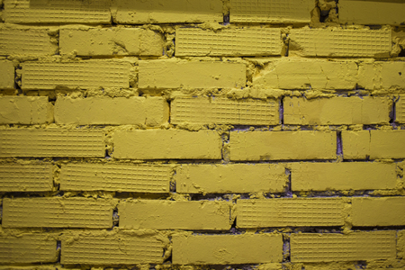 yellow brick wall texture. Old