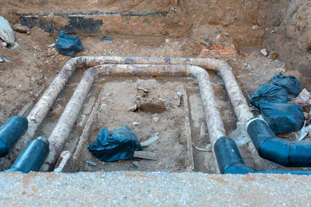 Repair of Central heating pipes in Russia