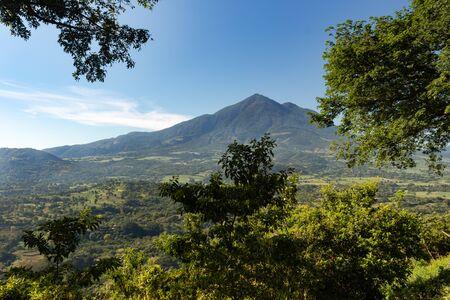 The Volcano in San Vicente, El Salvador, Central America, under blue sky in the late morning hours. Foto de archivo