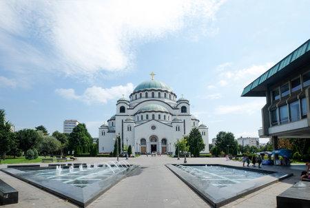The Cathedral of Saint Sava, Belgrade, Serbia 報道画像