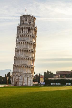 piazza dei miracoli: piazza dei miracoli tower in pisa Stock Photo