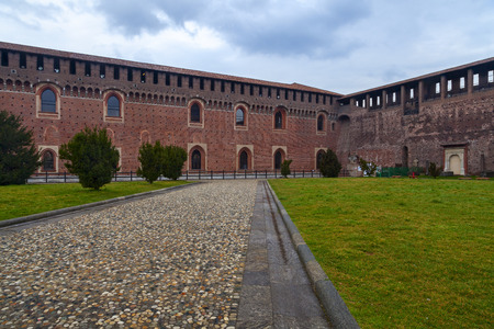 sforzesco: sforzesco castle in the city of milan
