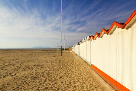 forte: beach view in the town of forte dei marmi