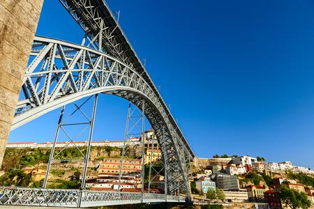 luis: luis bridge in the city of porto Stock Photo