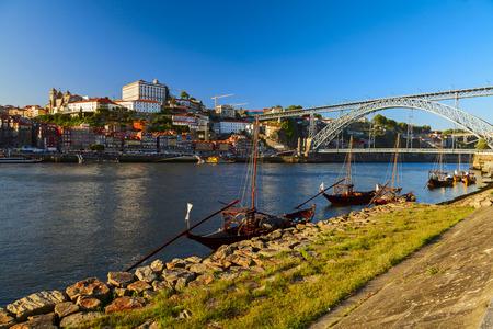 luis: porto view under the luis bridge Stock Photo