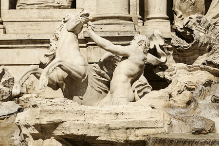 navona: fountain of the four rivers in navona square Stock Photo