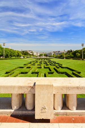 eduardo: eduardo VII park in the city of lisbon