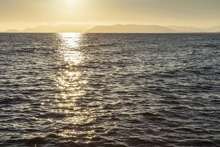 dei: amazing sunset on forte dei marmi sea