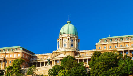 buda: buda castle view in the city of budapest