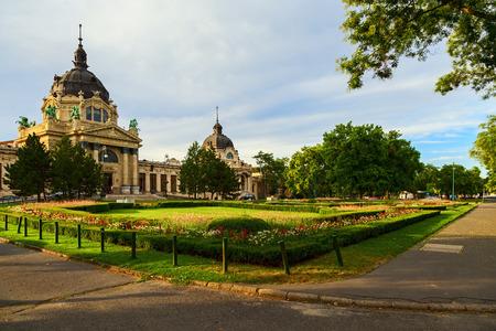 szechenyi: szechenyi bath in the city of budapest
