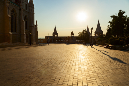 bastion: fishermans bastion in the city of budapest Editorial