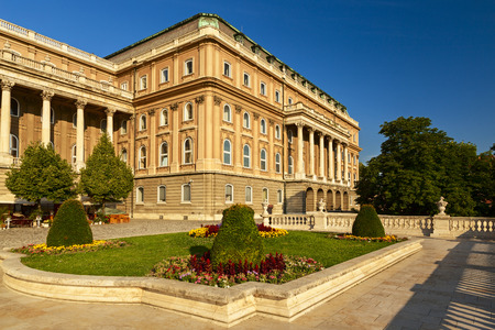 buda: buda castle garden in the city of budapest �ditoriale