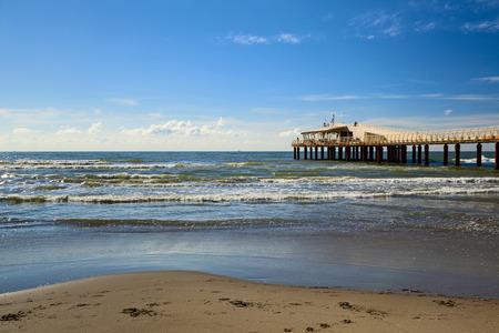 lido: lido di camaiore pier view on a sunny day