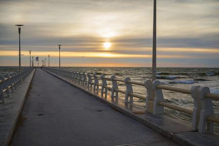 forte: forte dei marmi pier view on sunset Stock Photo