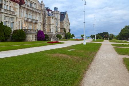 magdalena: beautiful magdalena palace in the city of santander
