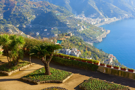 beautiful villa rufolo view in the town of ravello