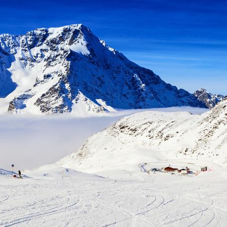 amazing mountain view on the alps Stock Photo