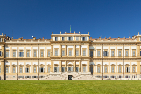 monza: amazing royal villa in the city of monza Stock Photo