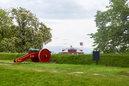 amazing akershus cannon in the city of oslo