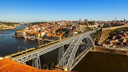 amazing luis bridge view in the city of porto