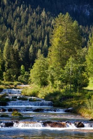 skying: Mountain stream Stock Photo