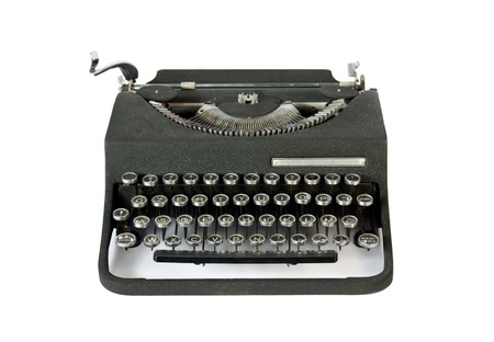 typewrite: Old Italian vintage typewrite view from the front