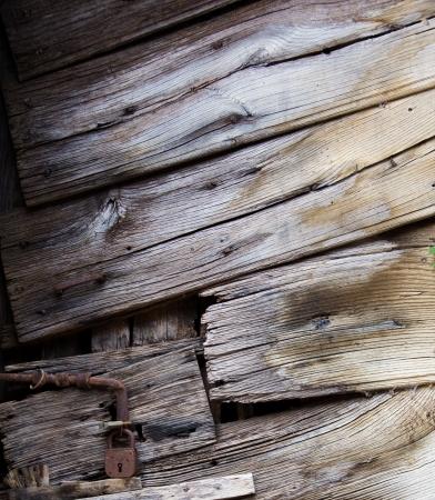 messed up: Old wood door closeup